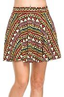 Skater Skirt for Women Short Stretch Flared Skirts Elastic Waistband Made in USA