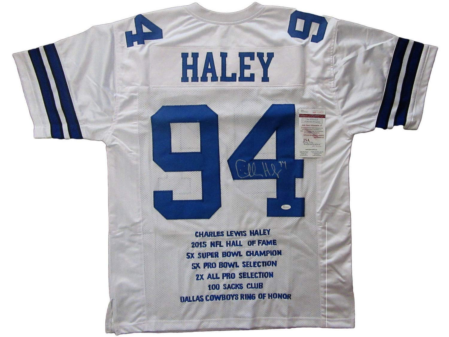 uk availability b7322 d6d88 Charles Haley Autographed Signed Dallas Cowboys Stat Jersey ...