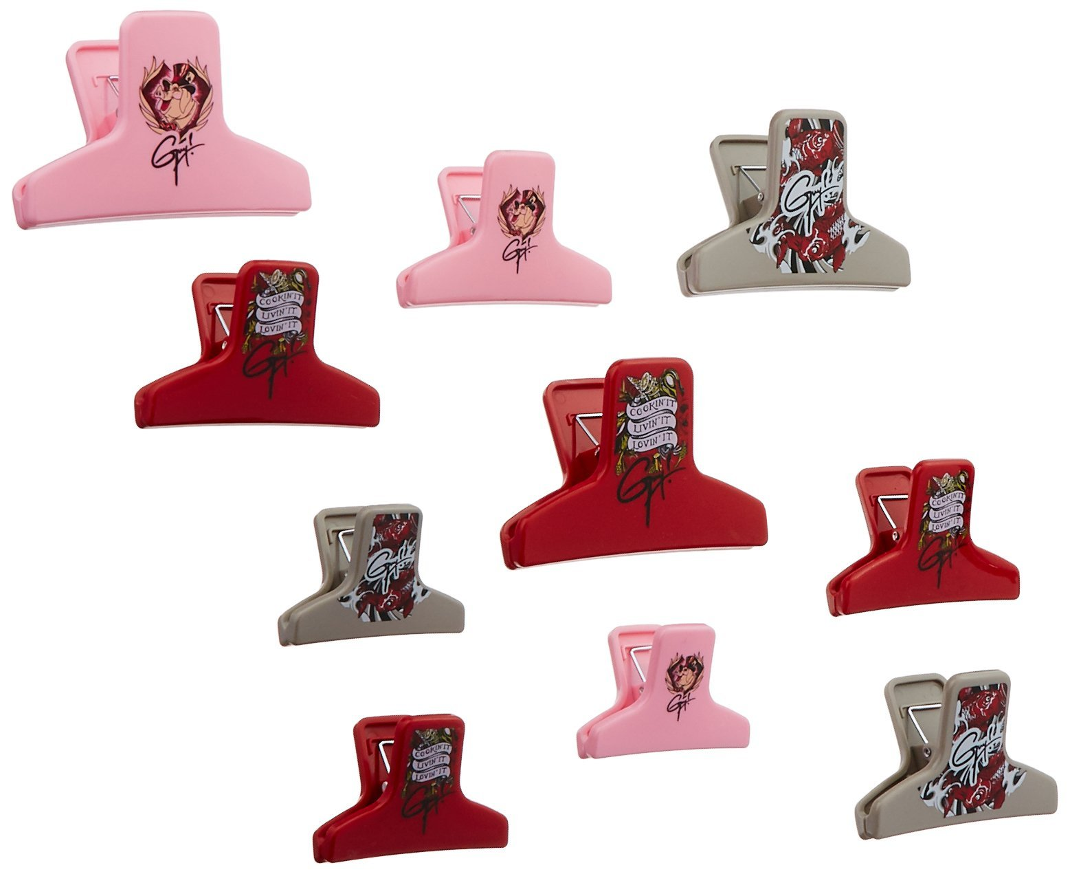 Guy Fieri Everyday Tattoo Bag Clips (Set of 10), Assorted