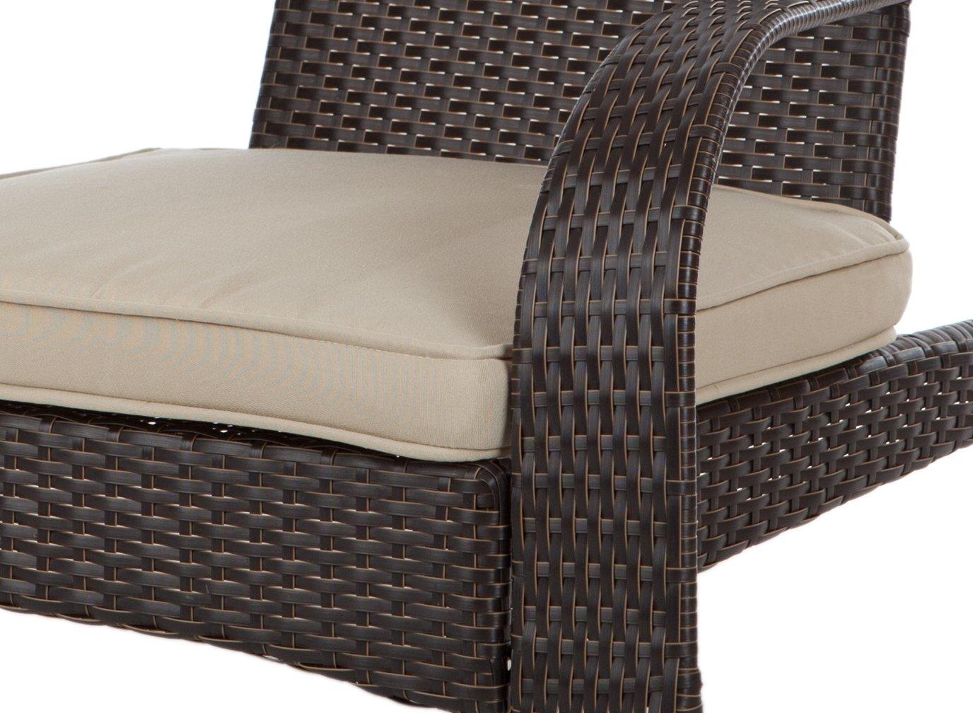 Amazon.com : Patio Sense Coconino Wicker Adirondack Chair : Rocking Chair :  Garden U0026 Outdoor