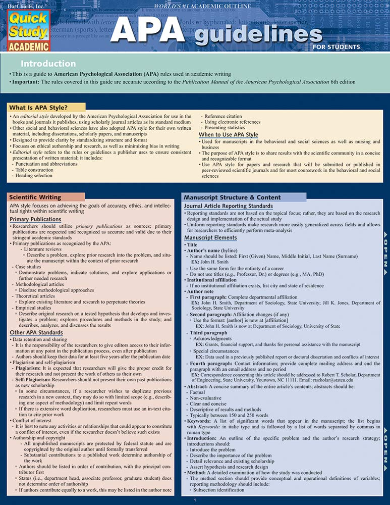 amazon apa guidelines quick study academic thomas smith
