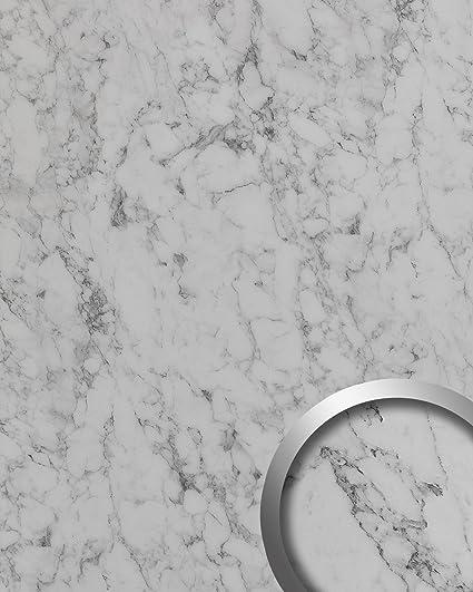 Revestimiento mural aspecto mármol WallFace 19338 MARBLE WHITE Panel decorativo liso de aspecto piedra mate autoadhesivo
