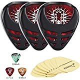 Donner Mini Sticky Style Guitar Pick Holder 3-pack & Guitar Picks 10 Pcs, Included 3 Pcs Holder Stickers, Suitable for…