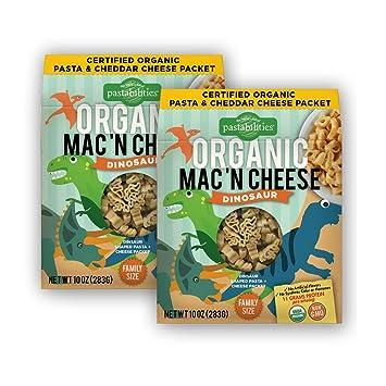 Amazon.com : Pastabilities Organic Dinosaur Mac \'n Cheese, 10 oz. (2 ...