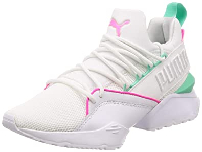 PUMA Muse Maia Street 1 Womens Trainers White Pink - 4 UK a3477f316