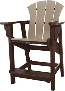 product image for Nags Head Hammocks Sunrise Counter Height Chair, Chocolate and Weatherwood