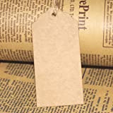 100Pcs Kraft Paper Gift Tags Wedding Party Favor