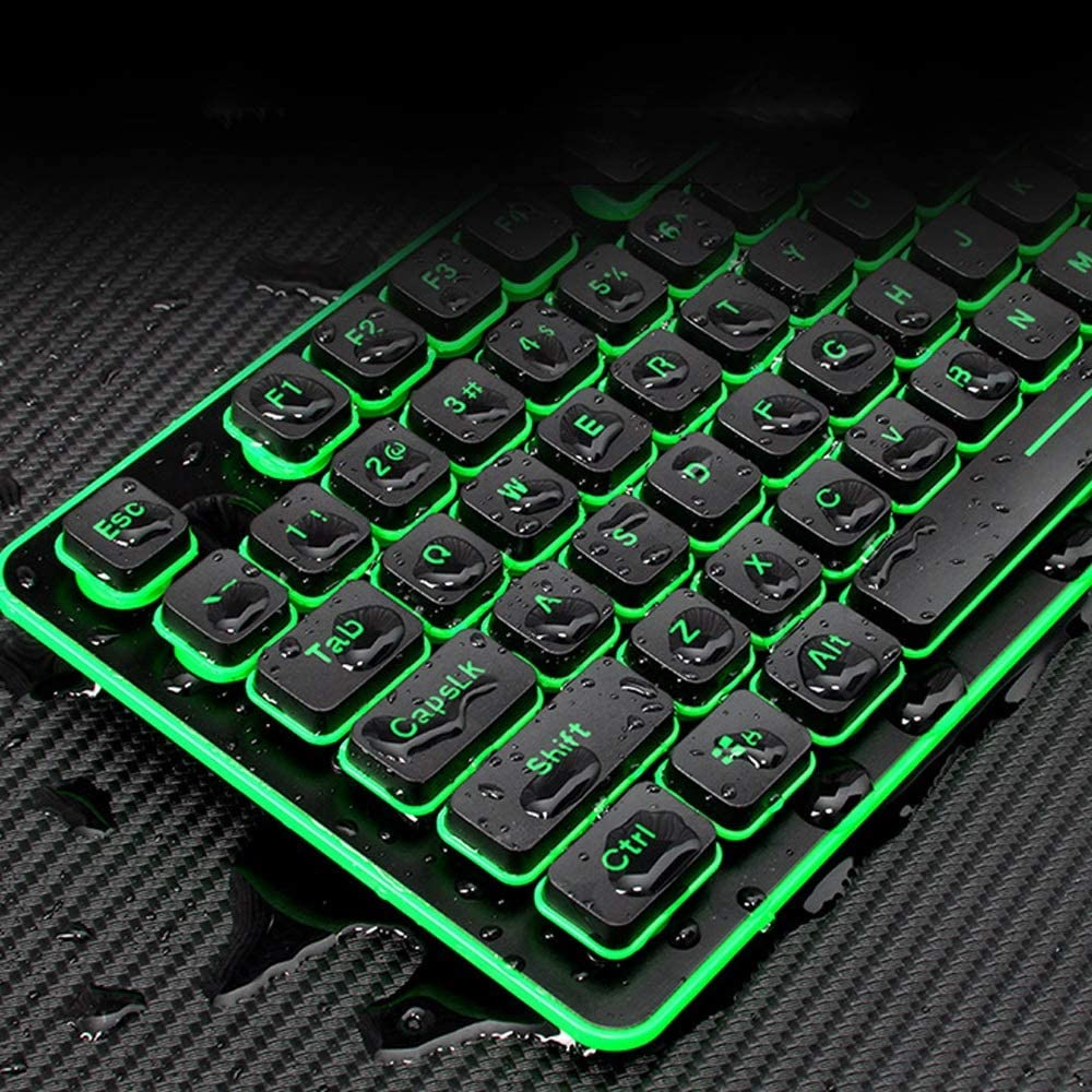 with Ergonomic Wrist Rest Long Battery Life Color : Black Wireless Keyboard and Mouse Combo Set USB Compatible with Windows and Chrome OS