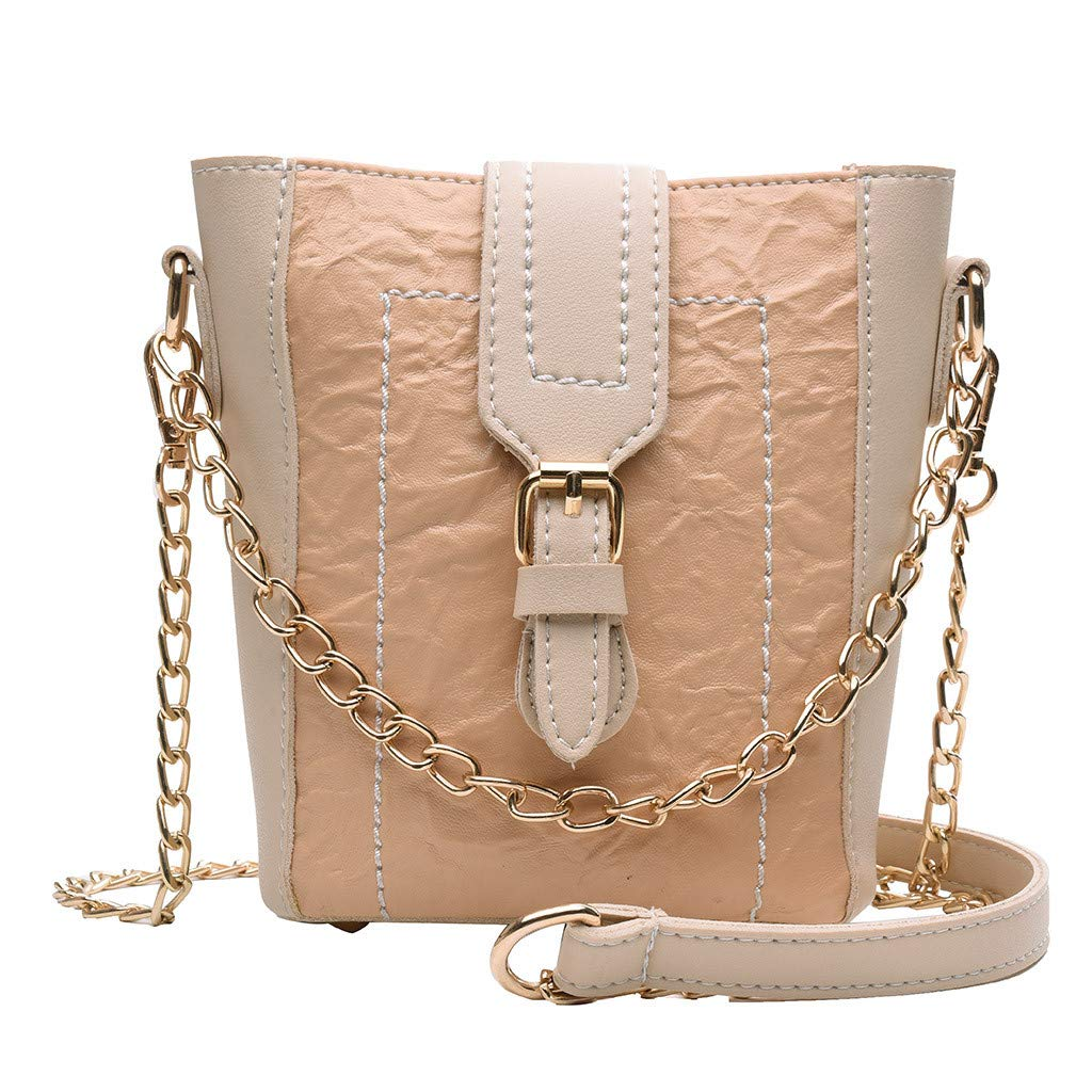 Arrowsy Women Bag New Small Fresh Slanting Chain Bag Small Bag Shoulder Bag Student Bag (Khaki)