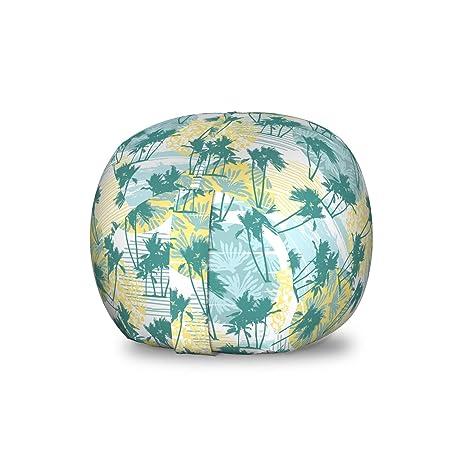 Cool Amazon Com Lunarable Palm Tree Storage Toy Bag Chair Inzonedesignstudio Interior Chair Design Inzonedesignstudiocom