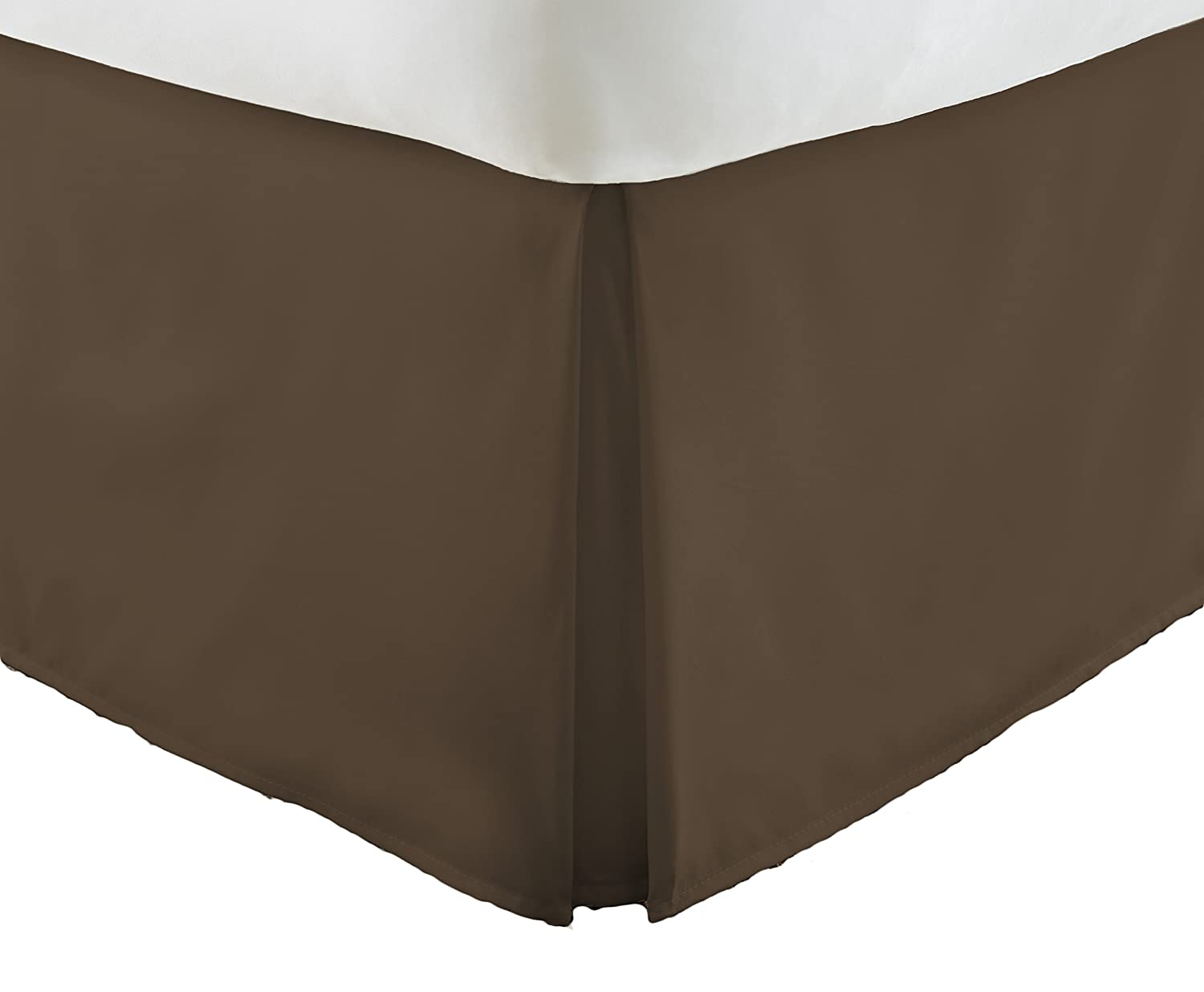 Chocolate Twin XL ienjoy Home Home Collection Pleated Bed Skirt