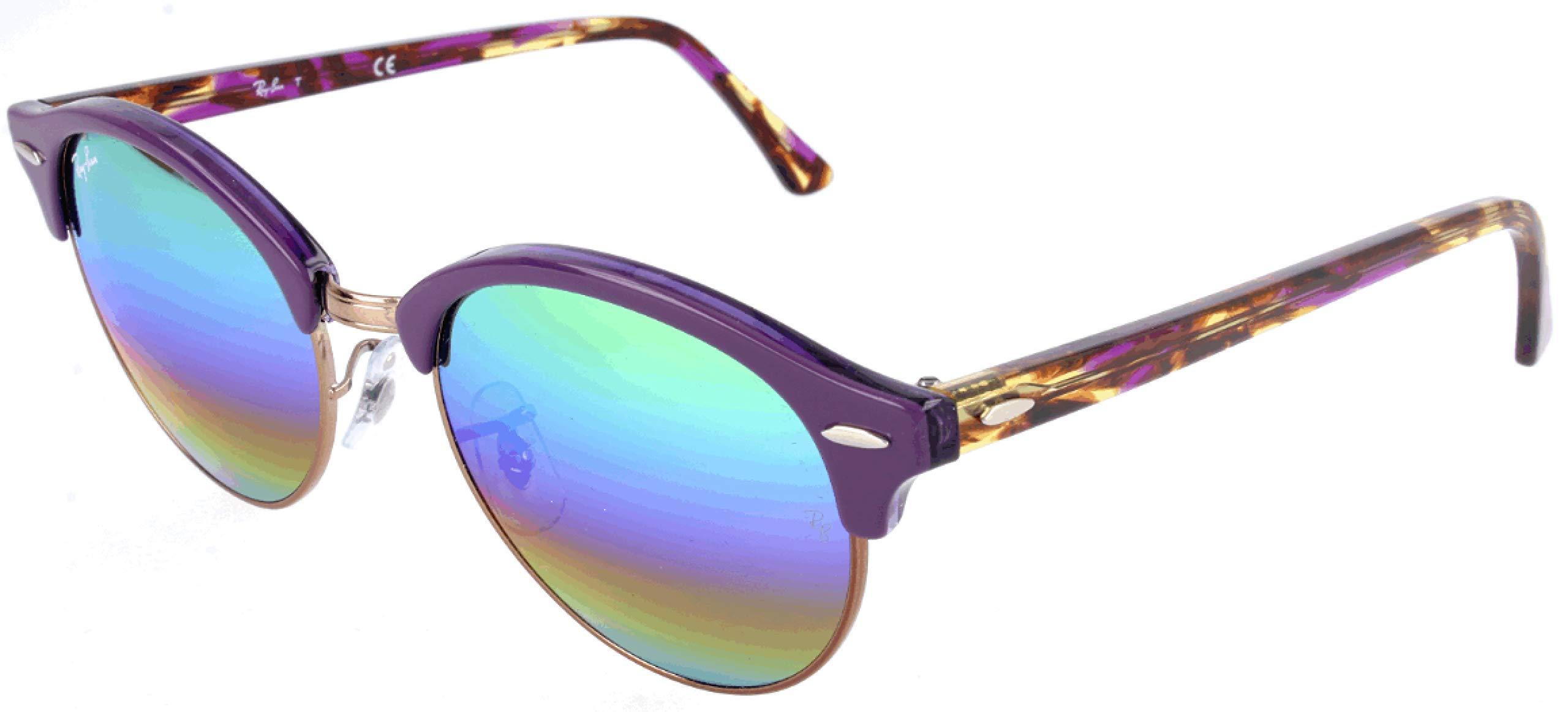 Ray-Ban Unisex RB4246 1221C3 Sunglasses, Top Violet on Transparent Violet