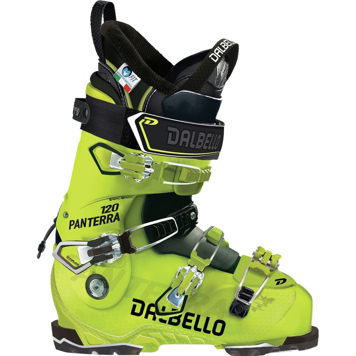 Dalbello Sports Panterra 120 I.D. Ski Boot Acid Yellow/Black, 25.5