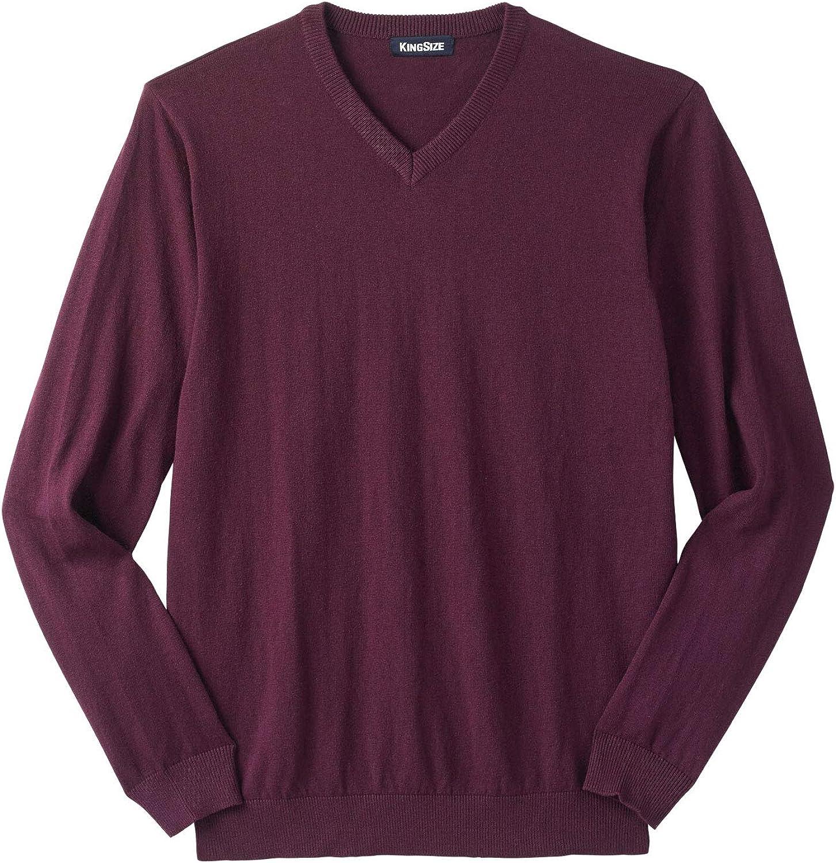 KingSize Mens Big /& Tall Lightweight V-Neck Sweater
