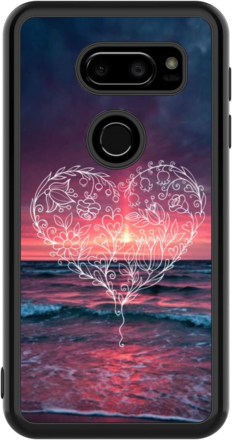 Heart Pattern Totem LG V30 ThinQ Case Creative Personality Case Phone Unique for LG V30 ThinQ