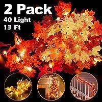 AMANKA Autumn Maple Luces, Decoracion de Otoño Luces