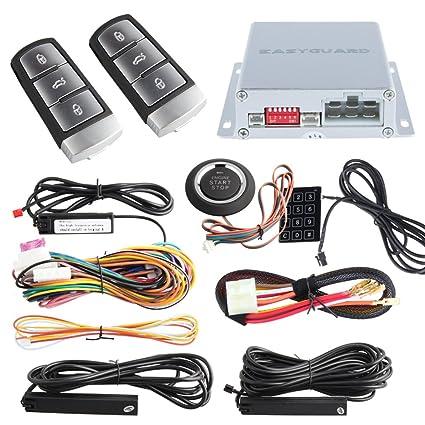 Amazon.com: EASYGUARD EC002-V0 PKE passive keyless entry car alarm ...