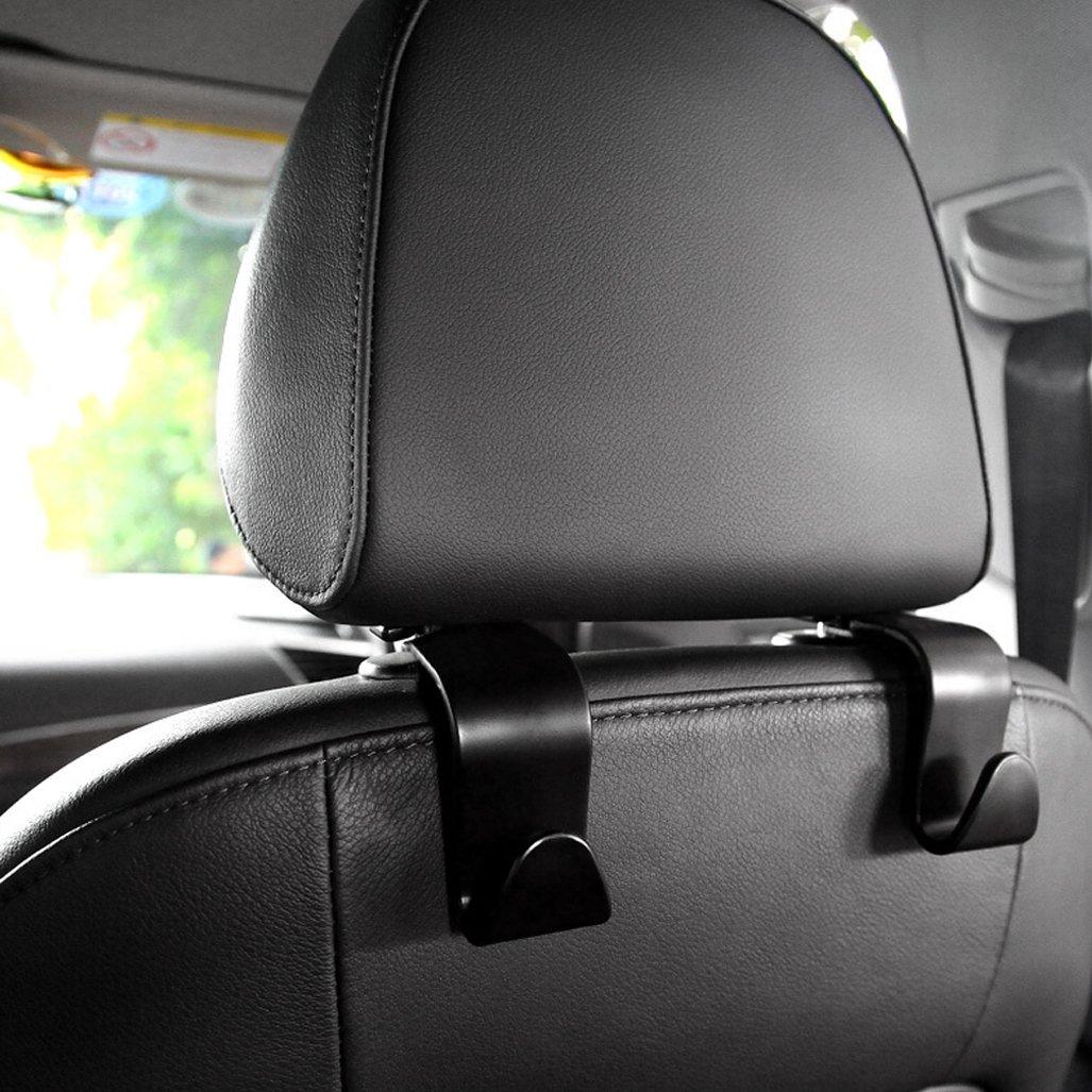Car Seat Back Hooks Vehicle Hidden Headrest Hanger for Handbag Shopping Bag Coat cnomg 4 Pcs Car Hooks