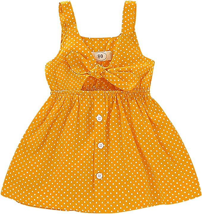 Toddler Baby Kids Girls Sleeveless Pineapple Princess Dresses Bow Hat Outfits