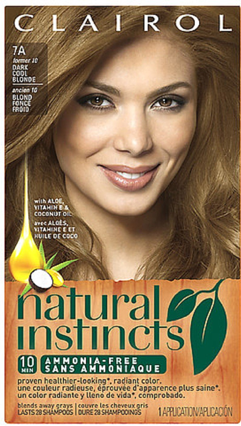 Natural Instincts Hair Color Dark Cool Blonde [7A] 1 ea (Pack of 8) by Clairol