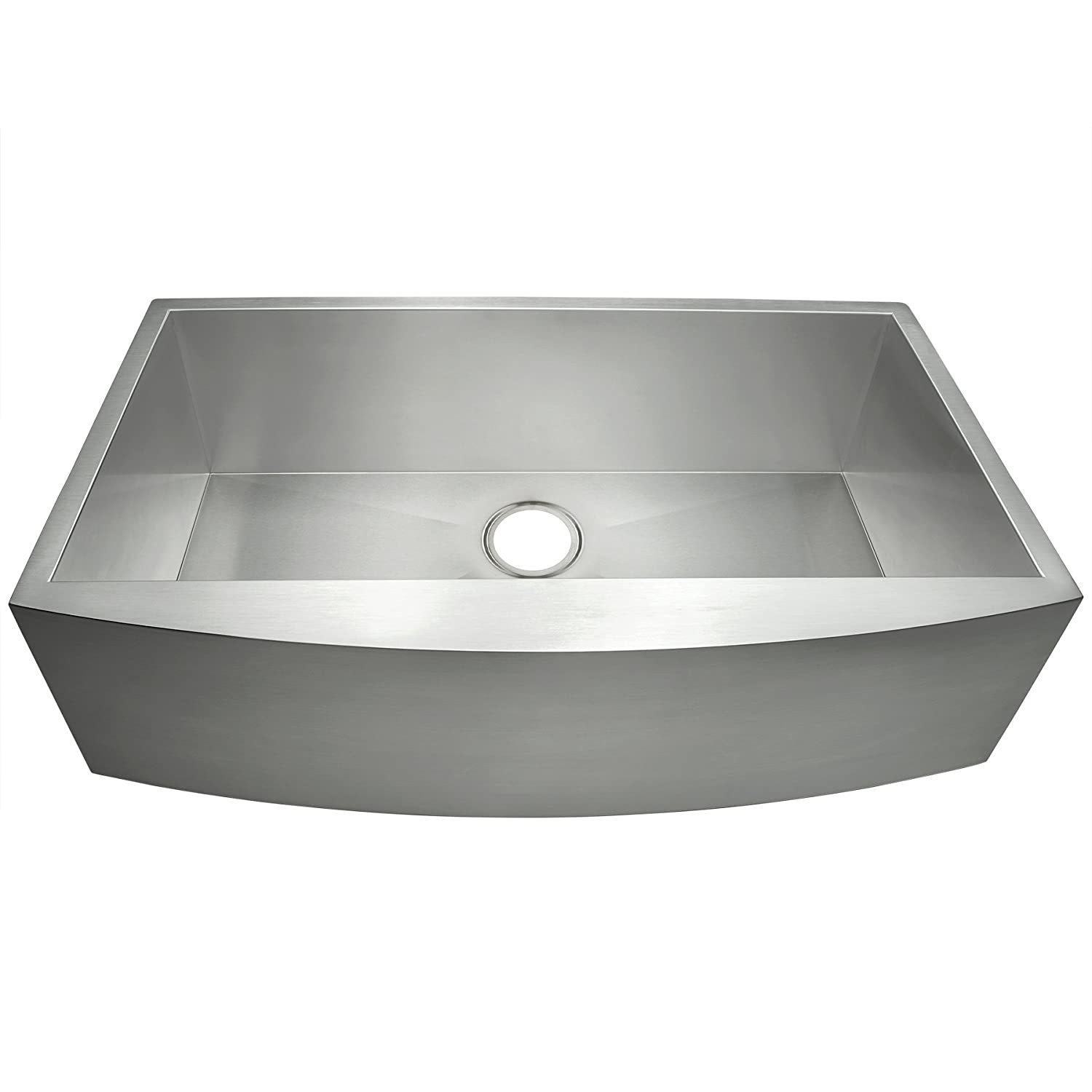 GV Farmhouse Undermount Handmade Stainless Steel Kitchen Sink 33-inch Single Bowl Basin 33 x 22 x 9 with 3.5 Drain Opening