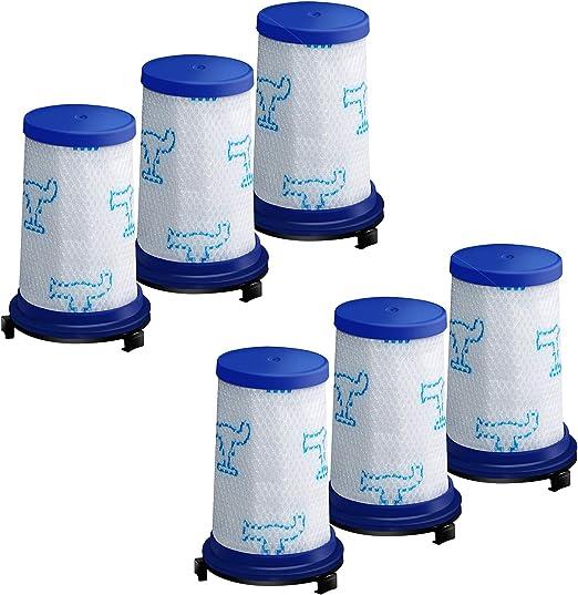6 filtros de repuesto para aspiradora Rowenta Air Force 360 RH9037WO, RH9038WO, RH9039WO, RH9051WO RH9057WO, RH9059WO, RH9079WO, RH9081WO, RH9086WO, Tefal Air Force 360 TY9079RO: Amazon.es: Hogar