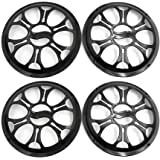 uxcell 4pcs 8 Inch Black Plastic Car Audio Woofer Subwoofer Mesh Cover Protective Grill