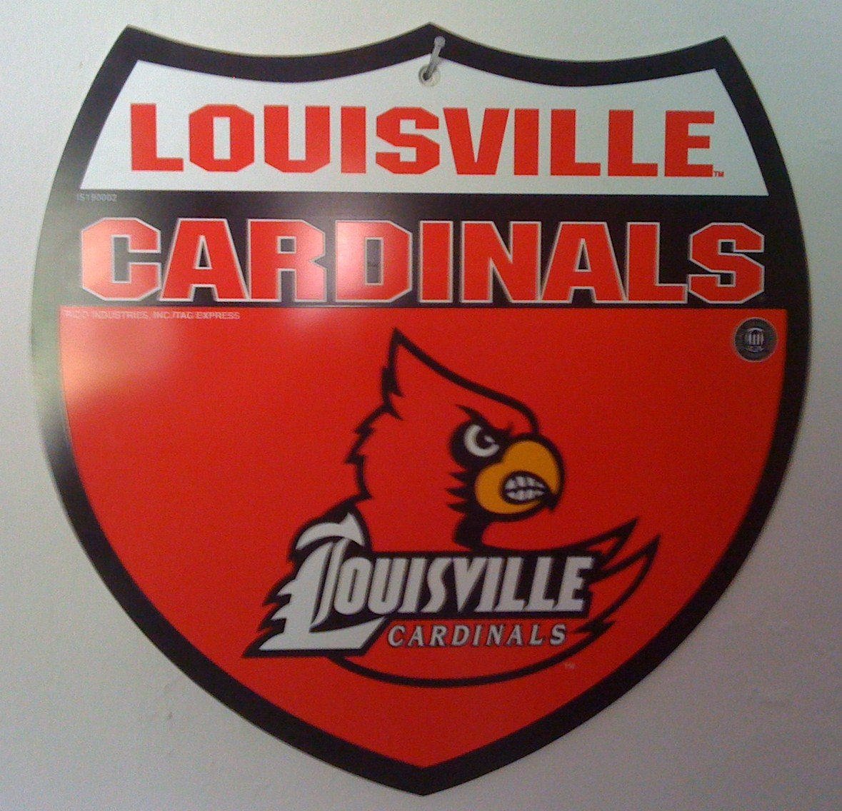 University of Louisville Cardinals NCAA 12x12 Interstate Street Sign