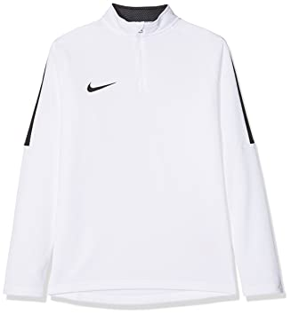 bfe9ea4232bc Nike Kinder Dry Academy 18 Drill Longsleeve, White Black, XL  Amazon ...
