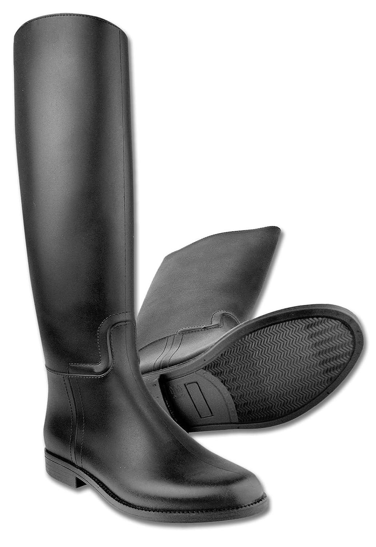 Amesbichler Bottes d'équitation Star pour les enfants Noir étanche, Taille 28| Bottes d'équitation avec supports pour étriers en plastique Reitsport Amesbichler