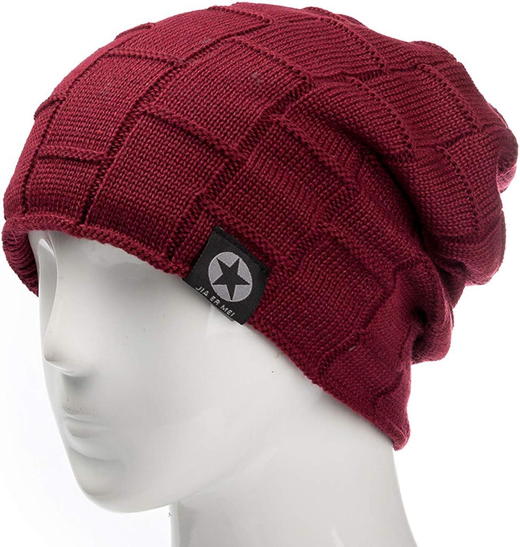 Ron Kite Star Solid Winter Hat Add Fur Wool Warm Hat Baggy Knitted Hat for Men Women Ski Sports Cap