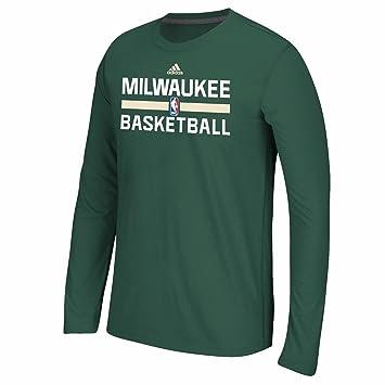 Adidas Milwaukee Bucks NBA Verde auténtico Pista Graphic Climalite Performance Camiseta de Manga Larga para Hombre, M, Verde: Amazon.es: Deportes y aire ...