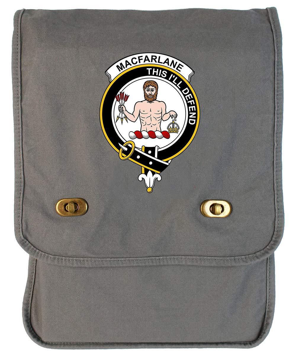 Tenacitee Scottish Clan Crest Badge MacFarlane Green Brushed Canvas Messenger Bag