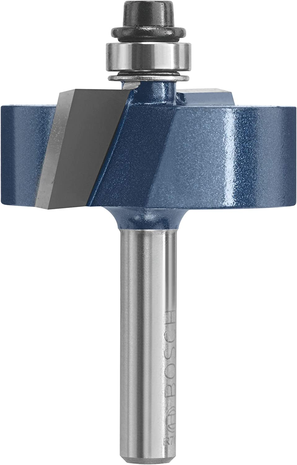 Bosch 85614M 1-1//2-Inch Diameter 1//2-Inch Cut Carbide Tipped Rabbeting Router Bit 1//4-Inch Shank with Bearing