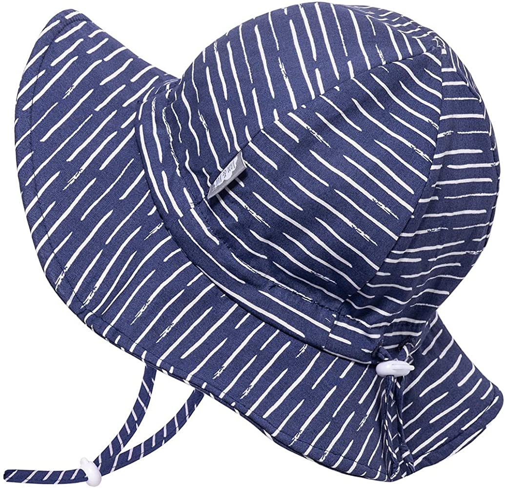 Breathable Cotton with Wide Brim Adjustable for Growth JAN /& JUL Baby Sun-Hat Unisex Kids