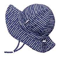 JAN & JUL GRO-with-Me Boys' Sun-Hat for Baby Toddler Kids, Adjustable Straps, UPF 50+ Protection
