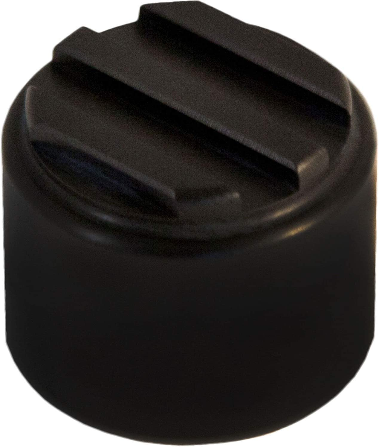 Ribbed Dimmer Switch Cover Black Anodized