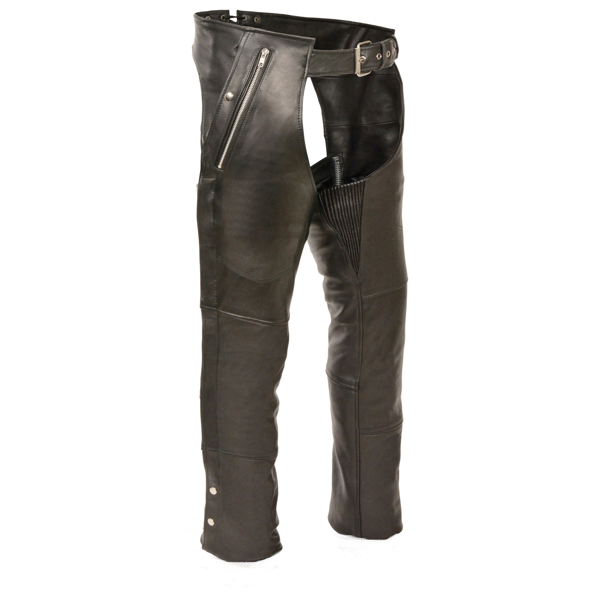 Milwaukee Leather Four Pocket Chaps (Black, 4X-Large)