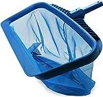 Stargoods Pool Skimmer Net, Heavy Duty Leaf Rake Cleaning Tool, Fine
