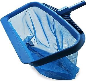 Stargoods Pool Skimmer Net, Heavy Duty Leaf Rake Cleaning Tool, Fine Mesh Net Bag Catcher