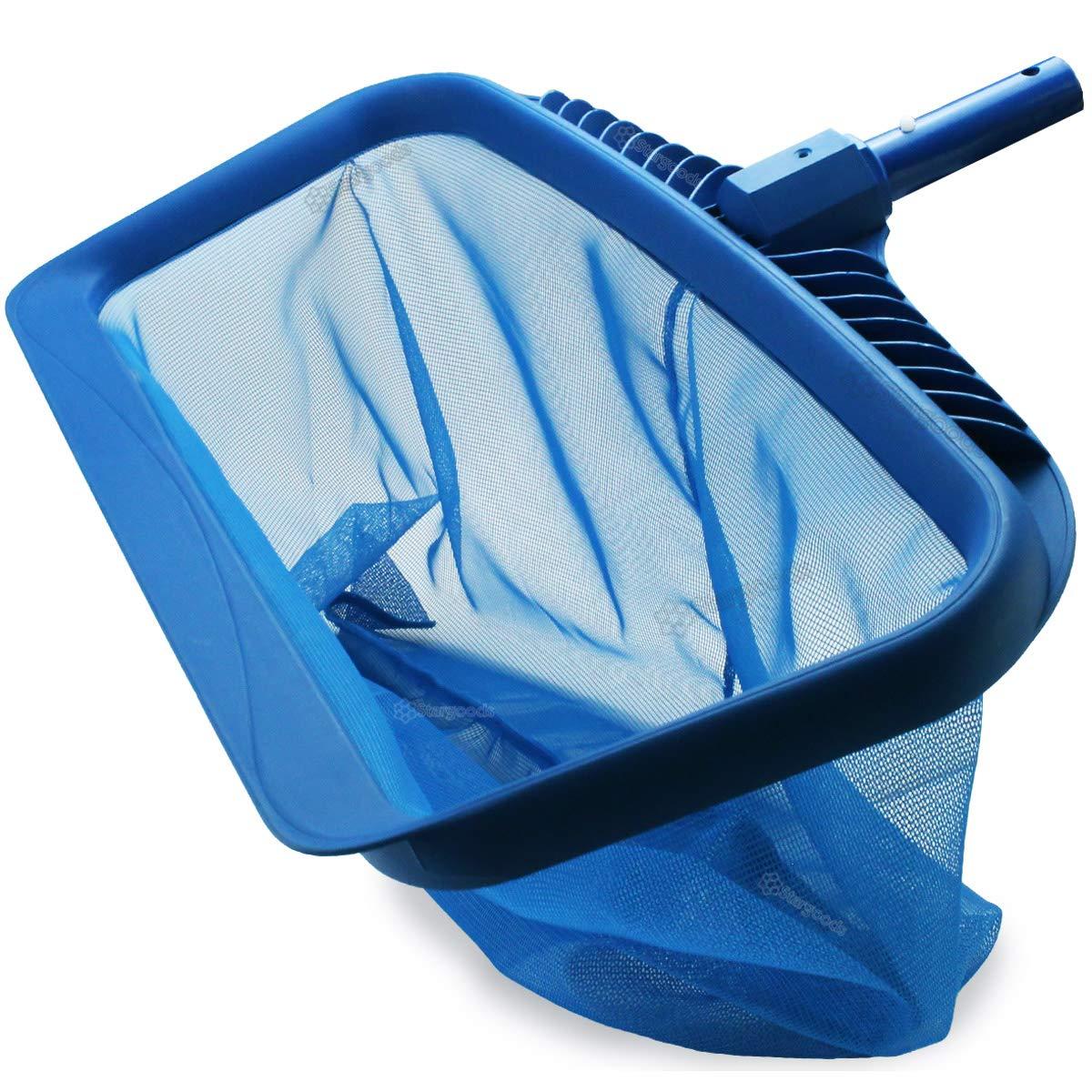 Stargoods Pool Skimmer - Heavy Duty Cleaner Tool & Net Bag Leaf Cleaning