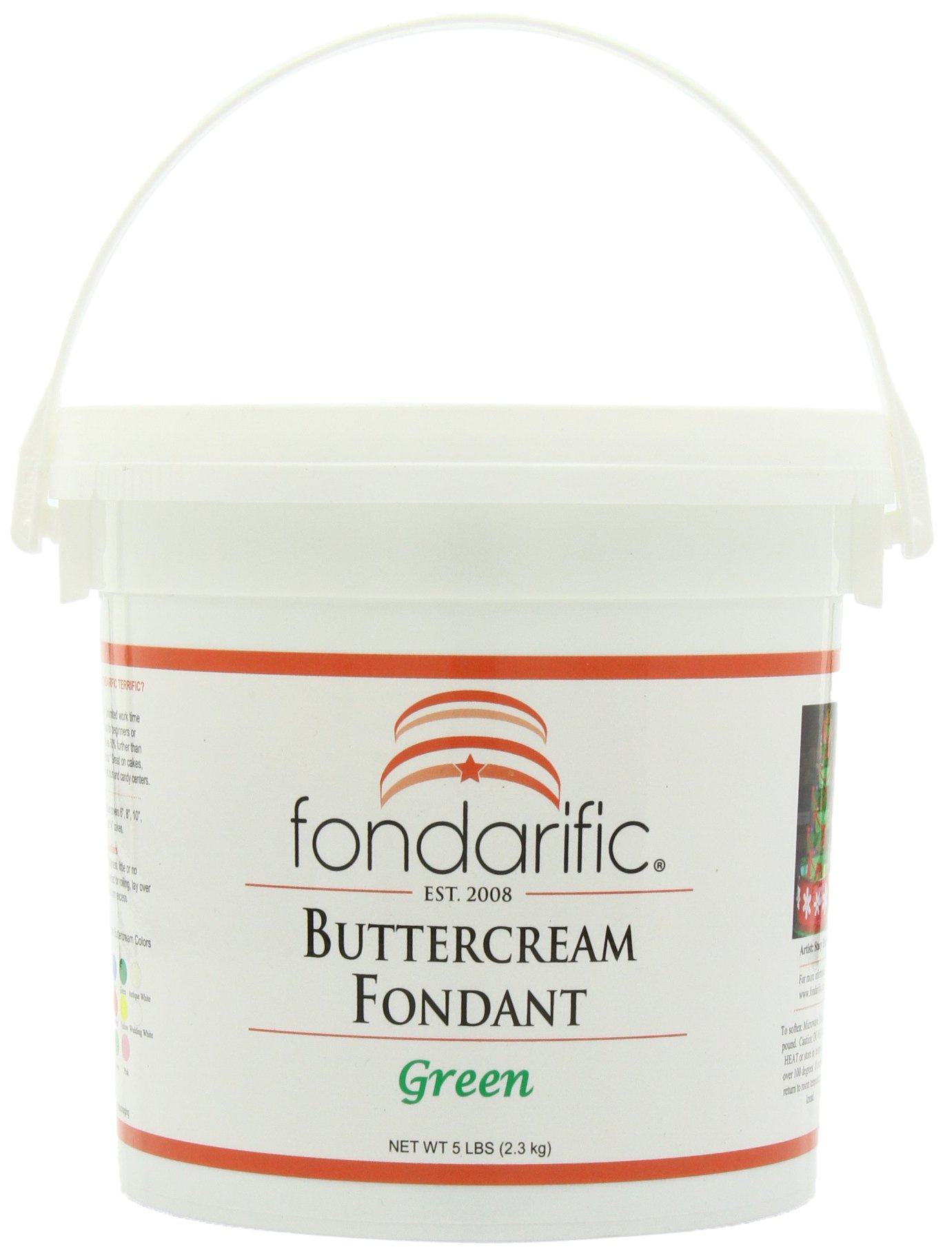 Fondarific Buttercream Green Fondant, 5-Pounds
