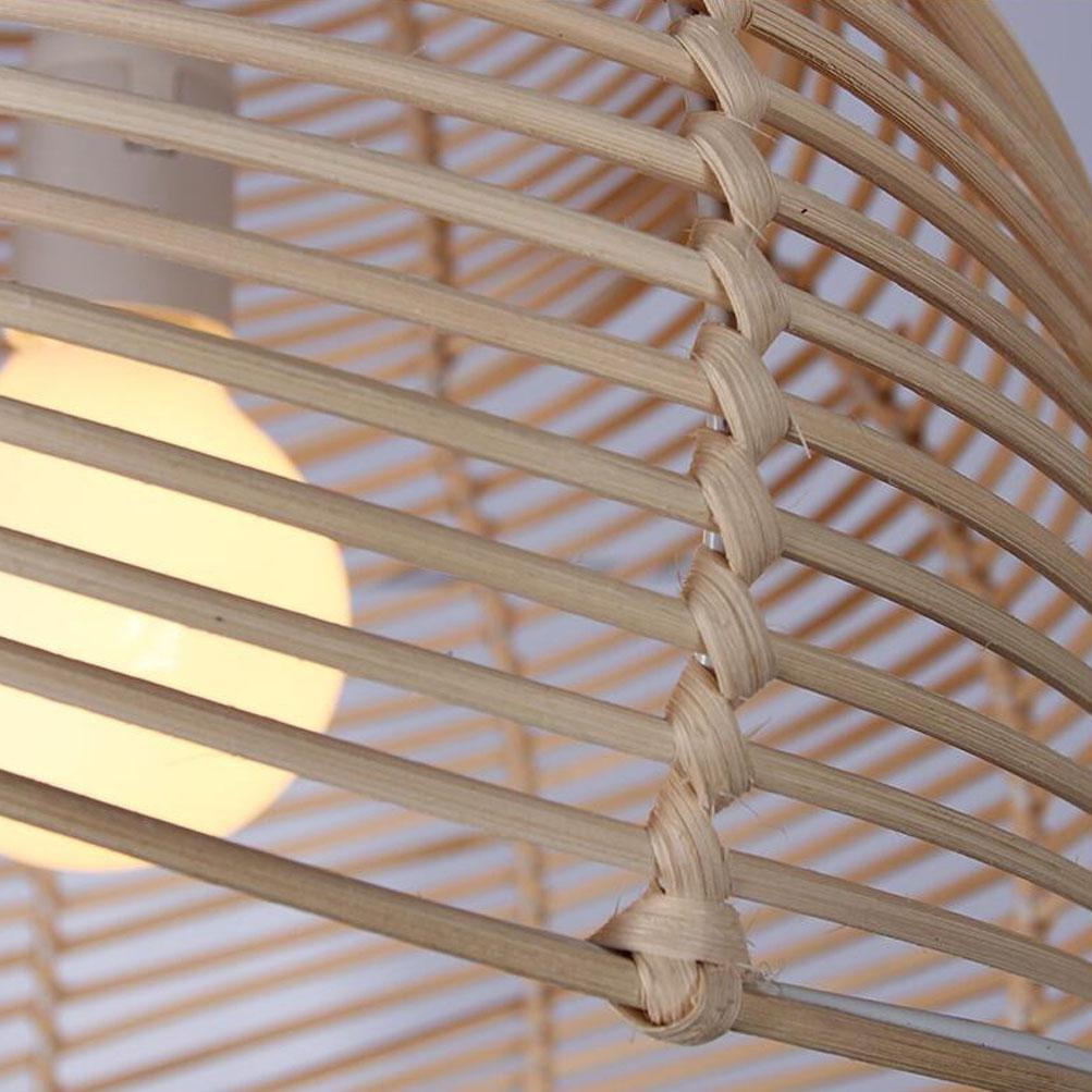 Lampadario a Soffitto Conchiglia Colori Primari Bamb/ù Vite Canapa Manuale Tessere Fai Te Campagna Ristorante Bar Studio Corridoio Balcone Sospensione 25cm primary color