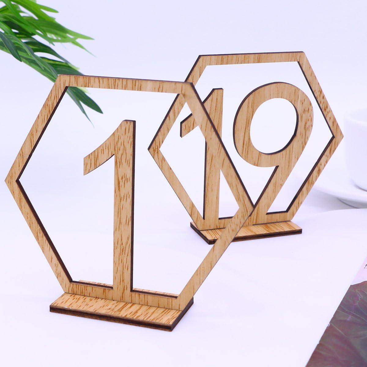 Tischnummern geometrisch