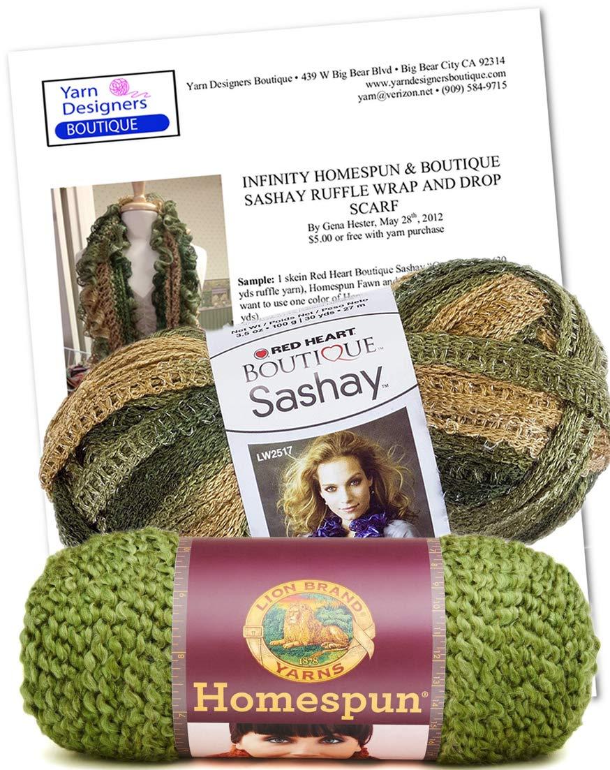 Amazon Ruffle Scarf Knitting Kit Infinity Fluffy Scarf Diy