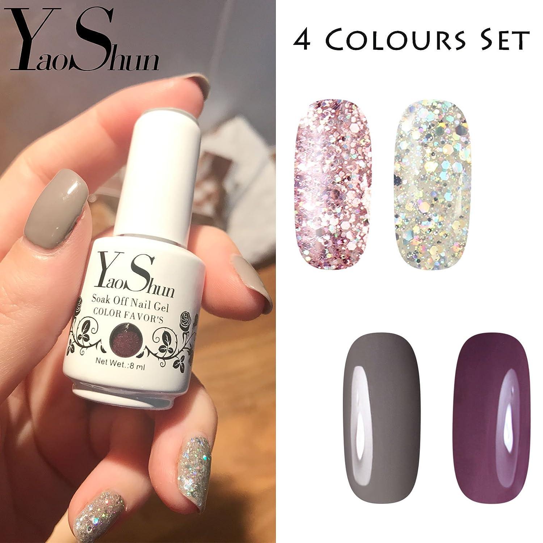 Esmalte de uñas de gel semipermanente (kit de 6 colores, 8 ml cada frasco): Amazon.es: Belleza