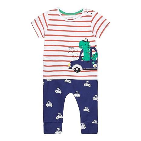 a127a76a9 Bluezoo para bebé Niños de color blanco diseño de rayas y azul Juego de  chándal para