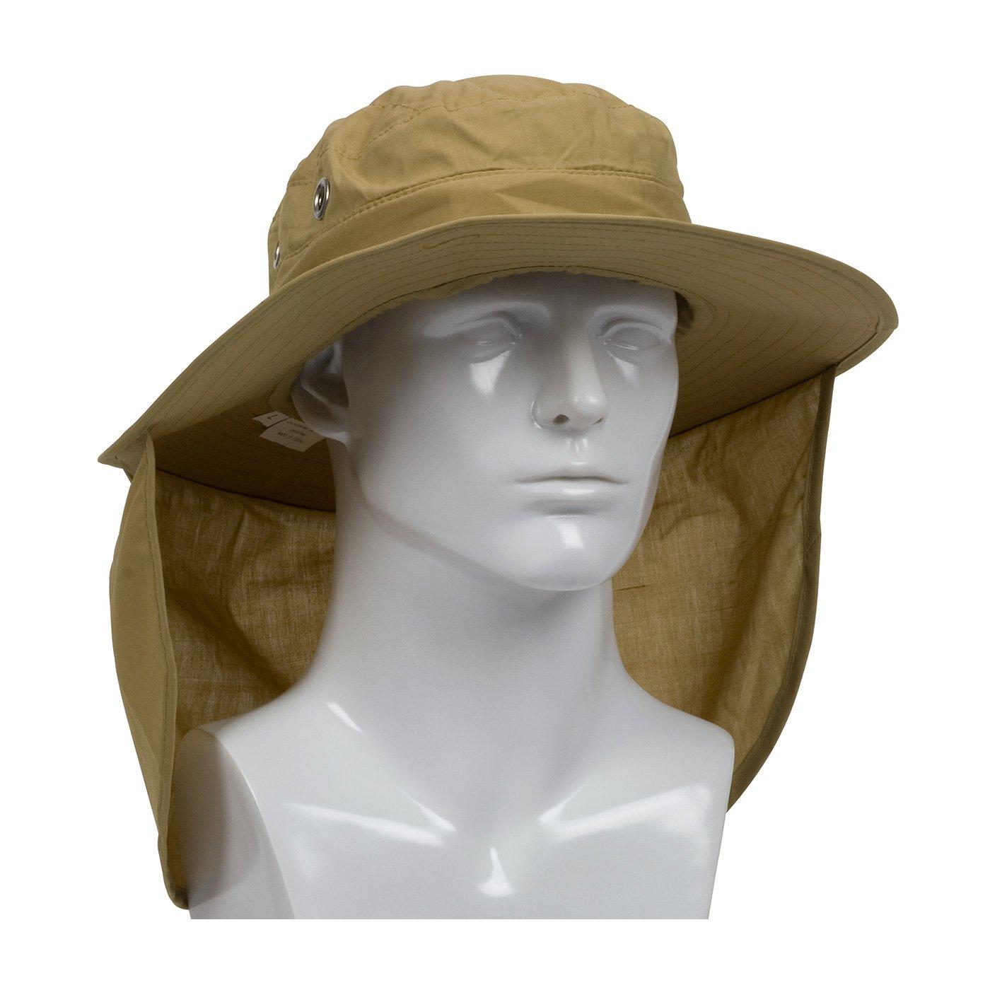 PIP Protective Industrial Products 396-425-KHK-M PIP 396-425-KHK-M Ranger Hat, Neck Shade, M, Tan