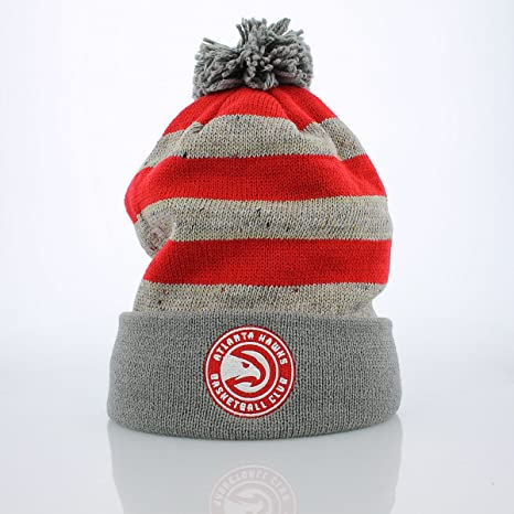 7686b4a8364b98 Amazon.com : Mitchell & Ness Atlanta Hawks Knit Hat : Clothing