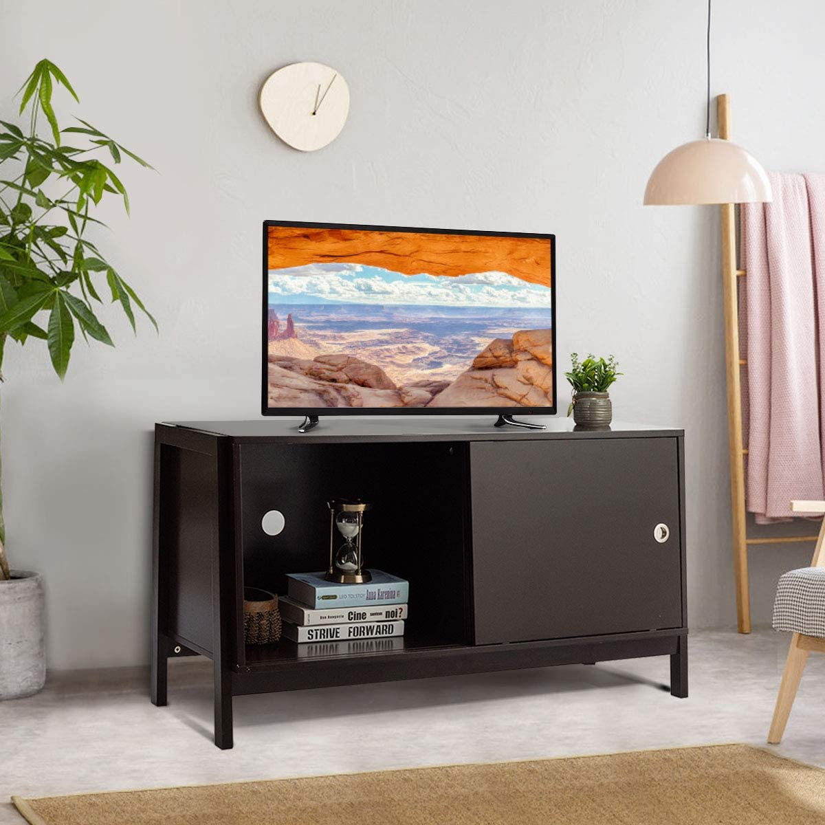 Tangkula Wooden TV Stand